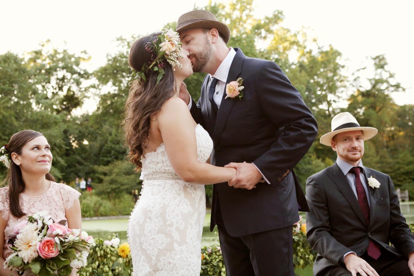 Romantic Prospect Park Boathouse Wedding