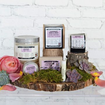 Lavender, Sage, and Mint gift set