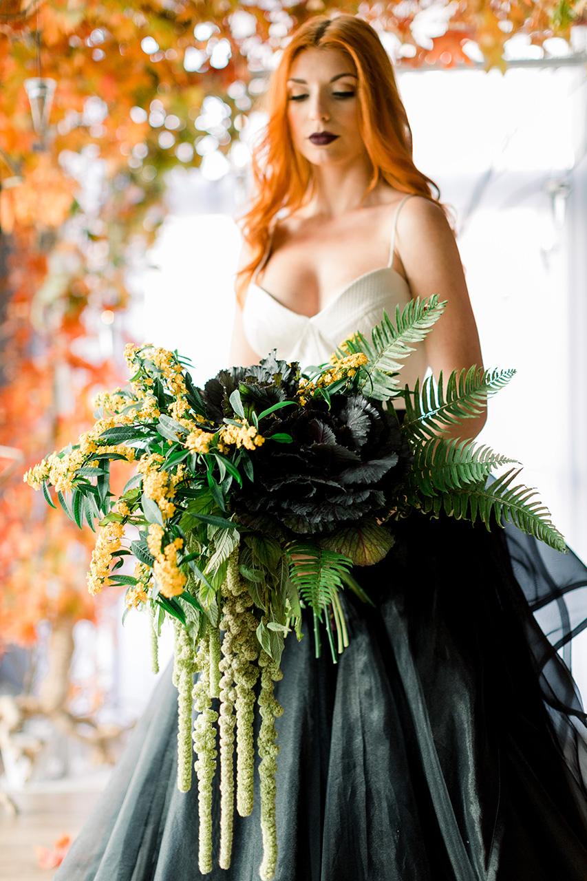 Goth Photo Shoot for Rebecca Shepherd Floral Design